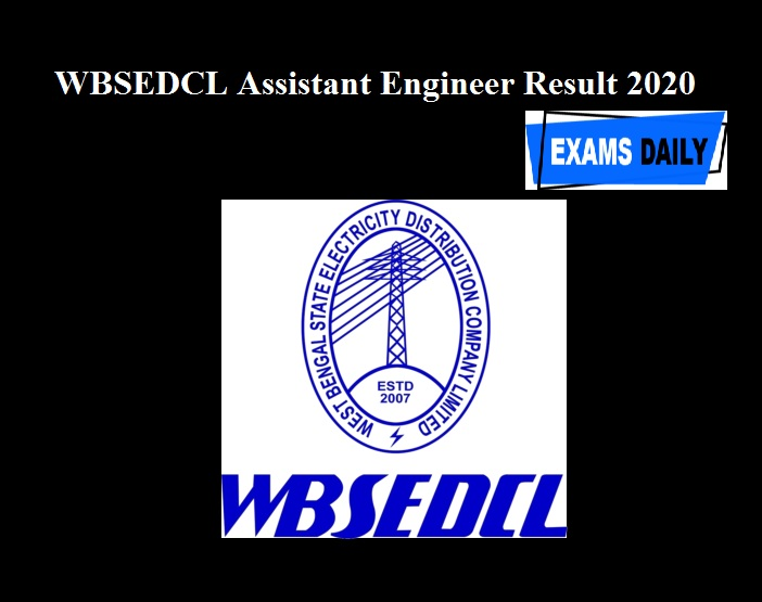 WBSEDCL Assistant Engineer Result 2020