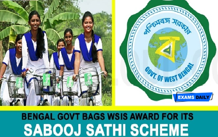 West Bengal govt wins WSIS award 2020 for its Sabuj Sathi scheme in WSIS Price Contest