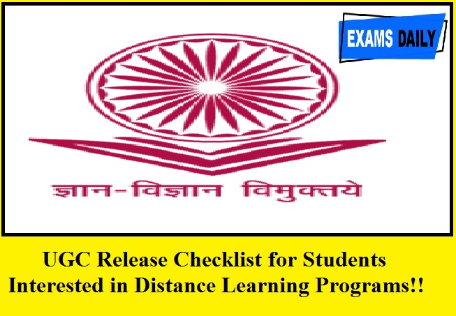UGC Release Checklist for Students Interested in Distance Learning Programs!!