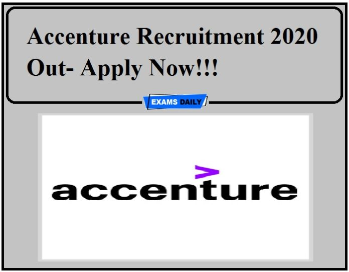 Accenture Recruitment 2020 Out- Apply Now!!!