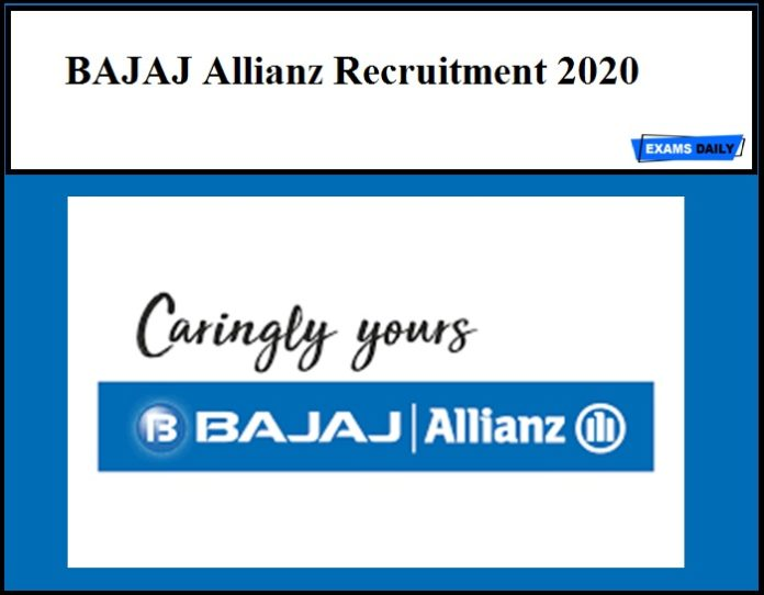 BAJAJ Allianz Recruitment 2020