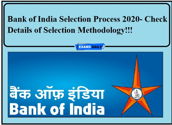 Bank of India Selection Process 2020- Check Details of Selection Methodology!!!