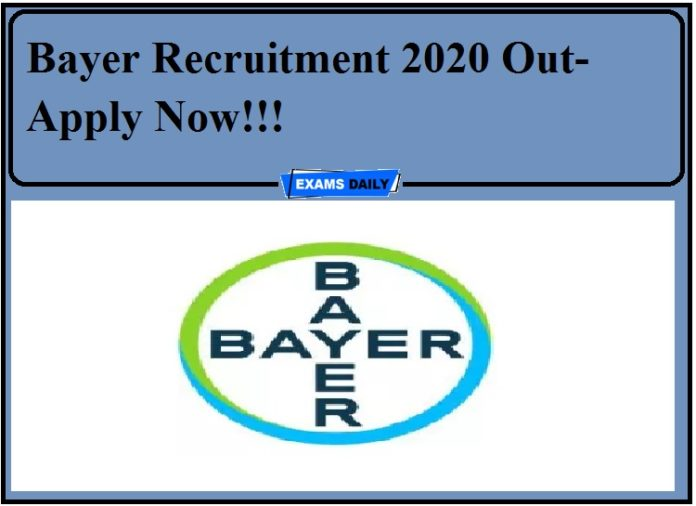 Bayer Recruitment 2020 Out-Apply Now!!!