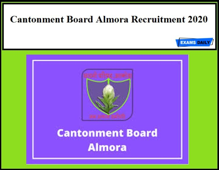 Cantonment Board Almora Recruitment 2020