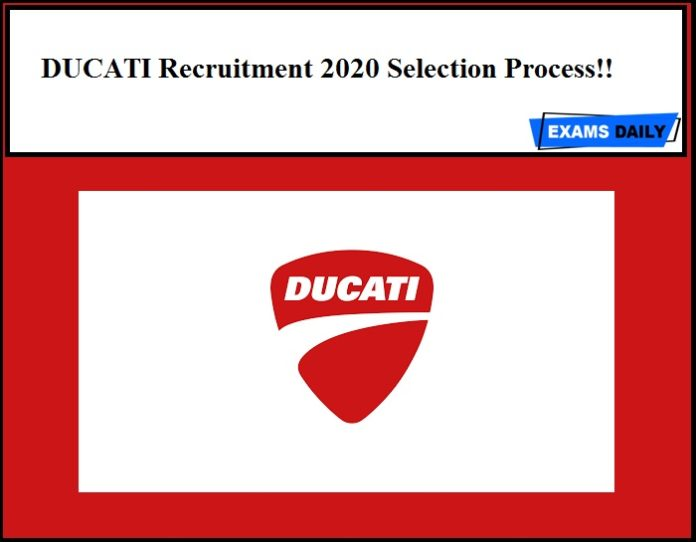 DUCATI Recruitment 2020 Selection Process!!