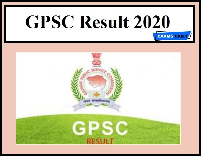 GPSC CCE Result 2020