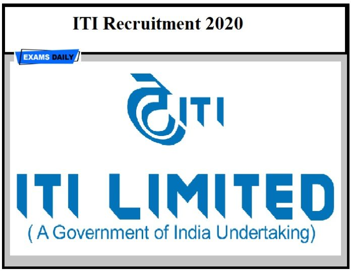 ITI Recruitment 2020 – Last Date to Apply for Diploma Graduate Apprentice Vacancies