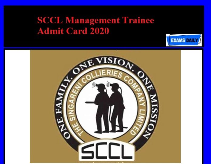 SCCL Management Trainee Admit Card 2020 Released – Download Now!!!