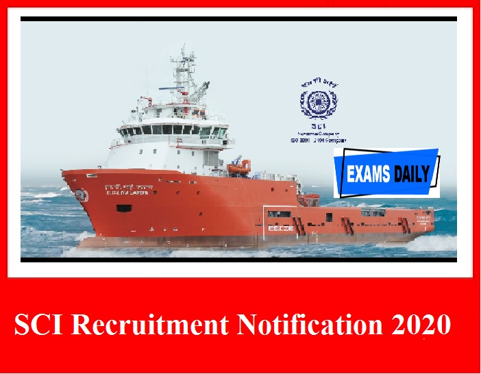 SCI Recruitment Notification 2020 – Last Date to Apply for 75 Vacancies Here!!!