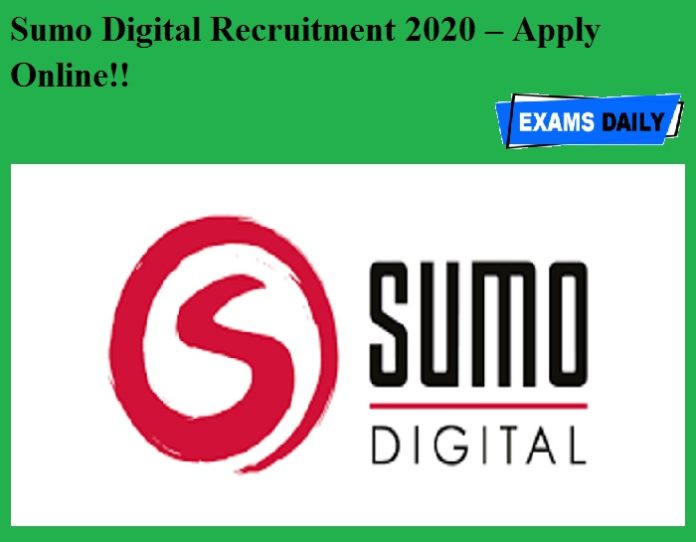 Sumo Digital Recruitment 2020 OUT – Apply Online!!