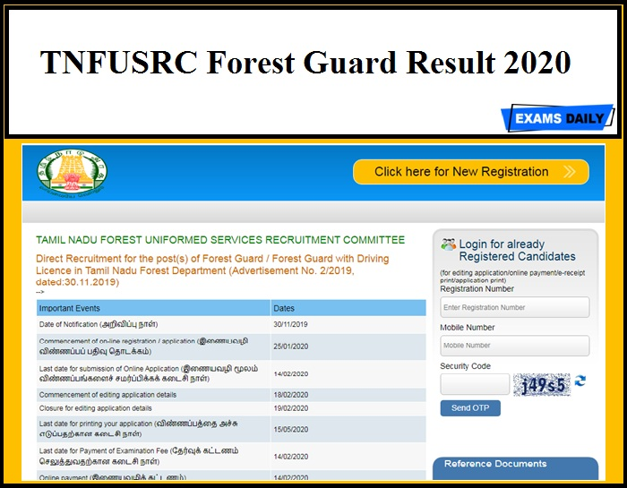TNFUSRC Forest Guard Result 2020