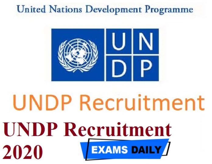 UNDP Recruitment 2020 Out – Apply for Individual Consultant Posts Here!!!