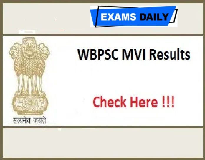WBPSC MVI Result 2020 Out – Download Interview Date for Motor Vehicle Inspector & Others Here!!!