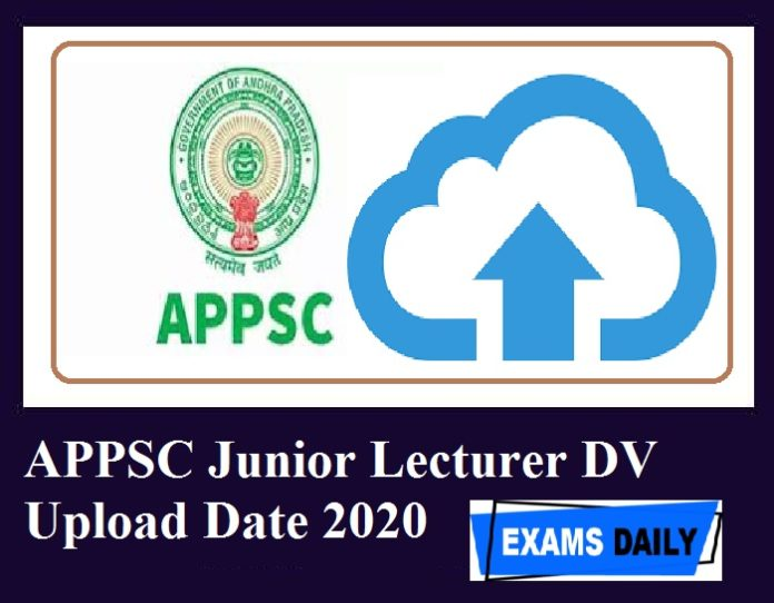 APPSC Junior Lecturer DV Upload Date 2020 Out – Check Document Verification Details!!!