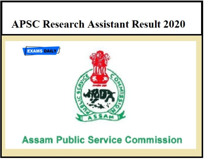 APSC Research Assistant Result 2020 OUT – Download Screening Test Venue & Time Details Here!!!