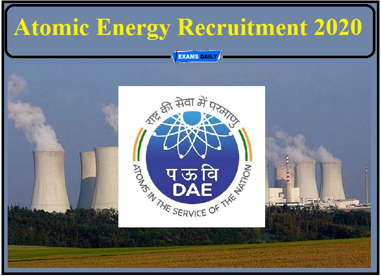 Atomic Energy Recruitment 2020 Out- Apply for Stenographer, UDC and Junior storekeeper!!!