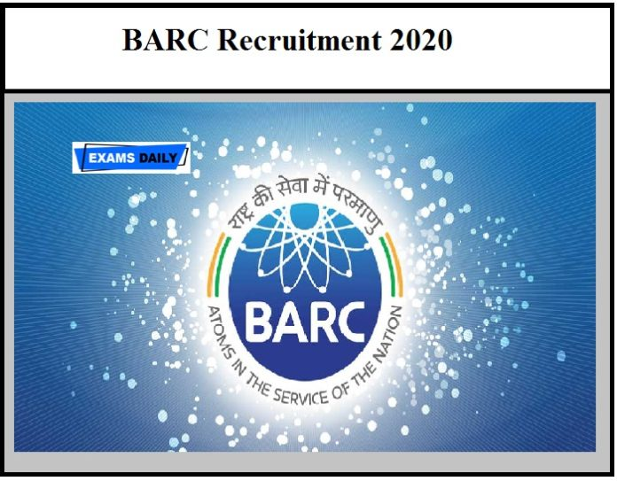 BARC Recruitment 2020 OUT – Walk-In Interview Download Application Form Here
