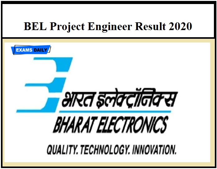 BEL Project Engineer Result 2020 OUT – Download Selection List for Manager & Deputy Manager