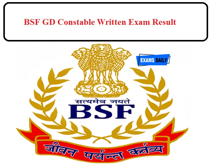 BSF Result 2020 Released Today