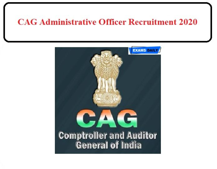 CAG Administrative Officer Recruitment 2020