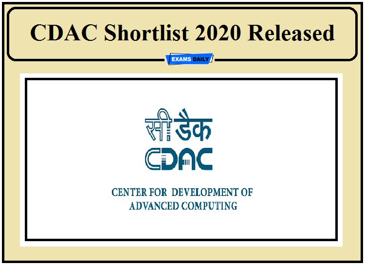 CDAC Result 2020 Released- Download Shortlist and DV Date for Project Engineer, Senior Junior Assistant!!!