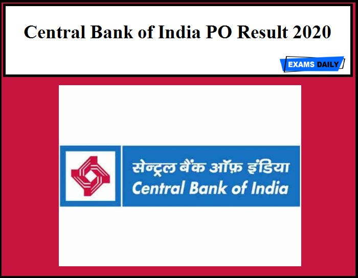 Central Bank of India PO Result 2020