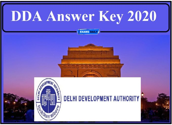 DDA Answer Key 2020 Released- Direct Link Check Objection Details!!!