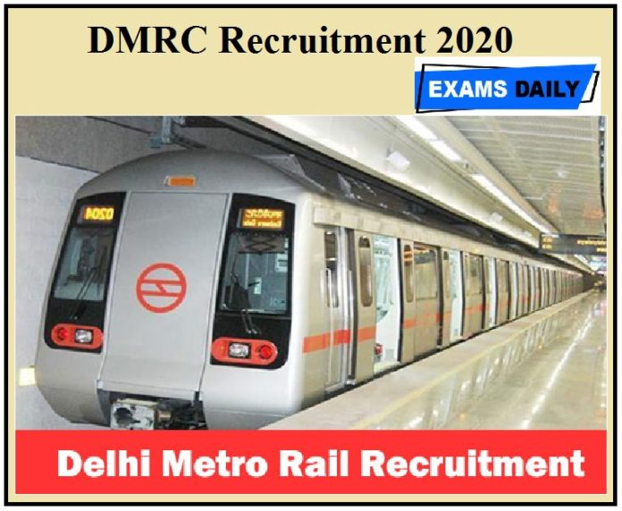 DMRC General Manager Recruitment 2020 apply dowload pdf