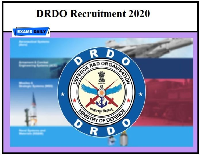 DRDO Recruitment 2020 – Apply JRF, RA Vacancy, Download Notification, Application Form
