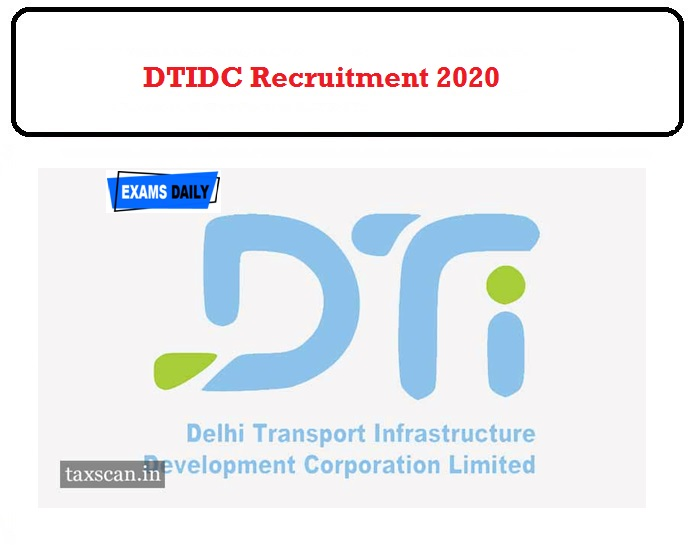 DTIDC Recruitment 2020 OUT