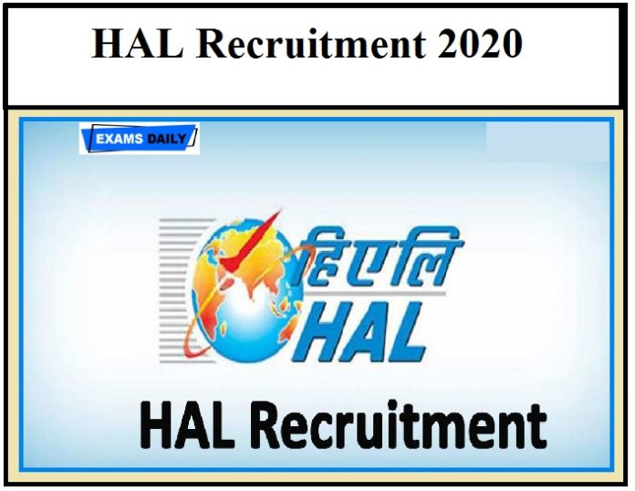 HAL Recruitment 2020 – Apply, Apprentice Vacancy, Download Application Form, Notification