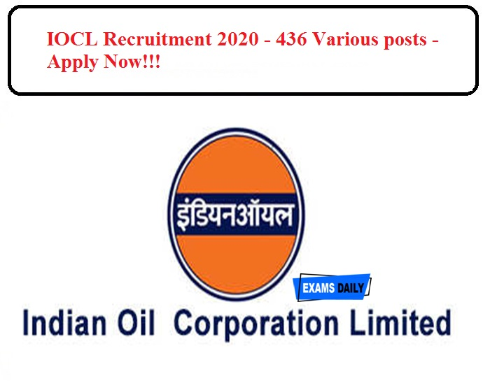 IOCL Recruitment 2020 Released