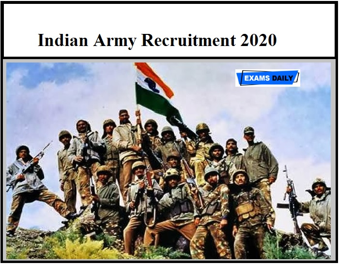 Indian Army Recruitment Rally 2020,Download Notification, Eligibility, Apply