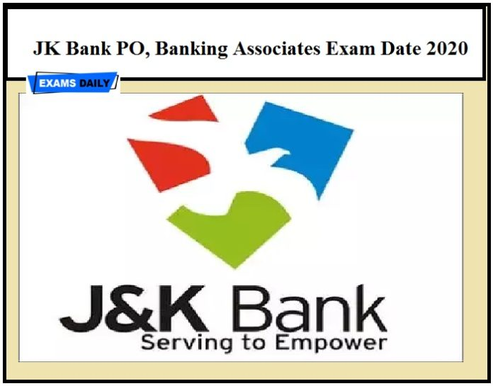 JK Bank PO, Banking Associates Exam Date 2020 Released – Check Admit Card Details Here