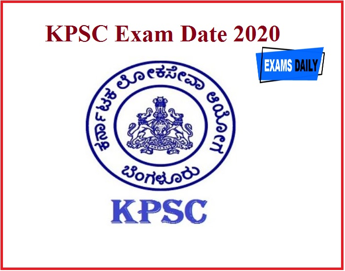 KPSC Exam Date 2020 Out