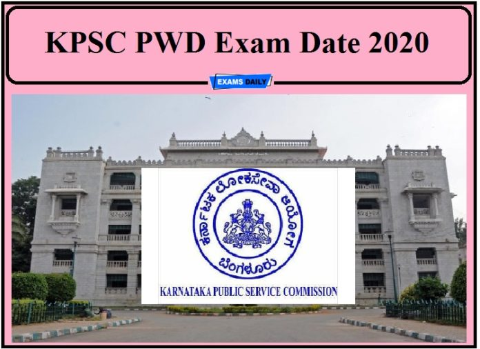 KPSC PWD Exam Date 2020 –Check JE AE Admit card Details!!!