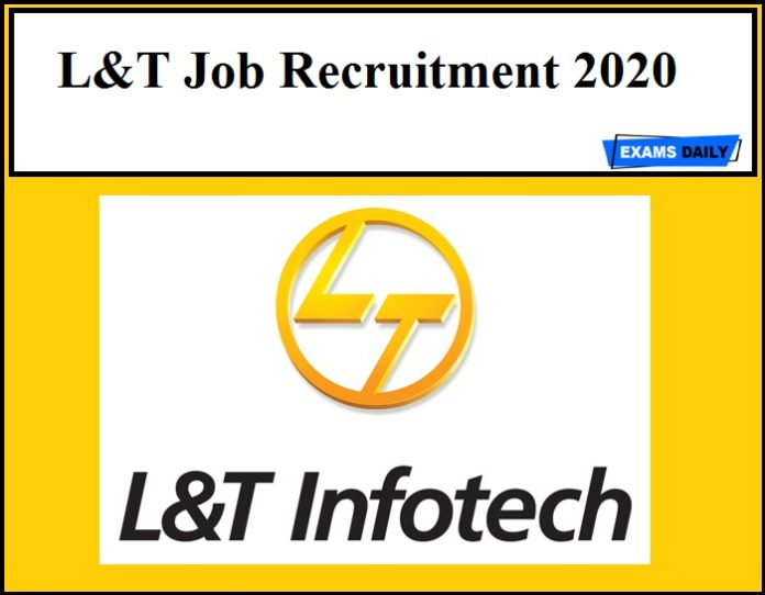 L&T Job Recruitment 2020