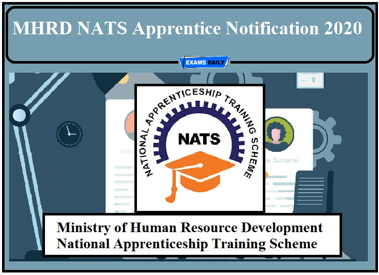 MHRD NATS Apprentice Notification 2020 Out- Apply for LT and Pharmacist Apprentices!!!