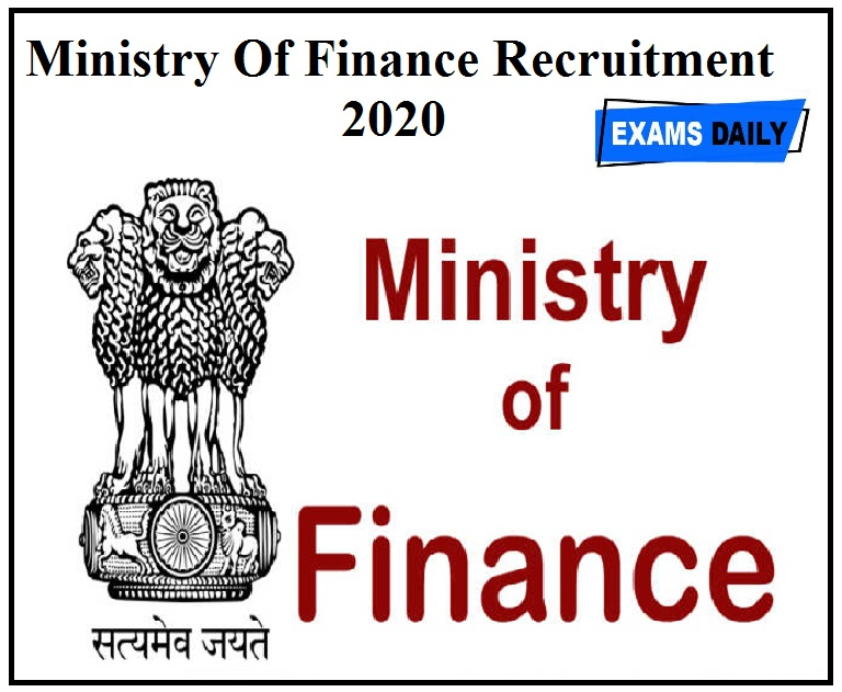 Ministry Of Finance Recruitment 2020 apply for legal consultant vacancies download application for, vacancy details,salary
