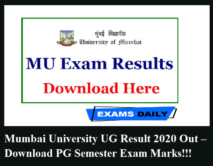 Mumbai University Result 2020 Out – Download Semester Exam for UG & PG Now!!!