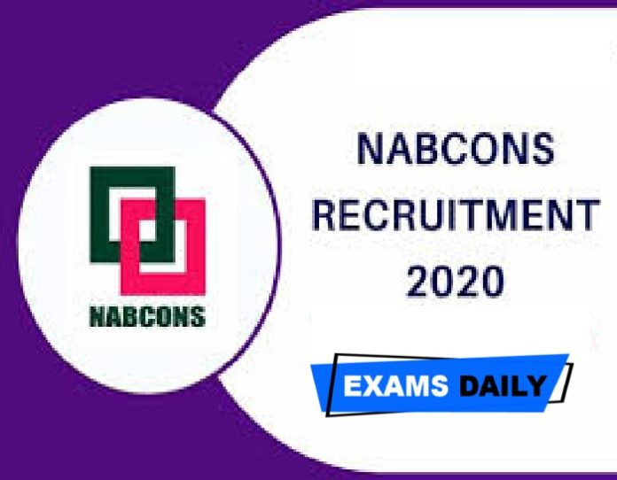 NABCONS Vacancy 2020 (Notification Released) Out – Apply Online for Associate Project Consultant Vacancies