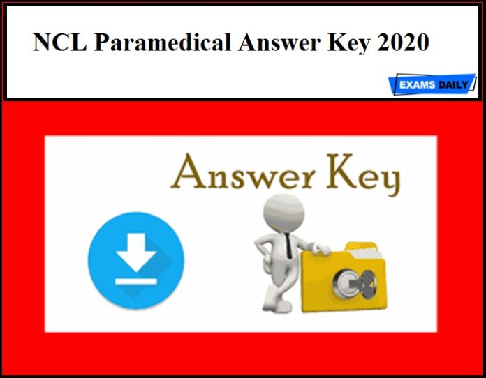 NCL Paramedical Answer Key 2020