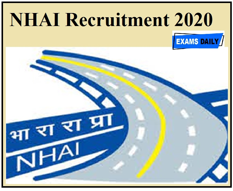 NHAI Recruitment 2020 Apply For Director & Other Post Check Eligibilty Details Here!!!