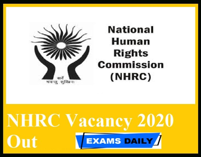 NHRC Vacancy 2020 Out – Download Recruitment Notification PDF Application Form