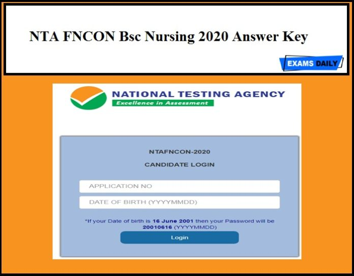 NTA FNCON Bsc Nursing 2020 Answer Key