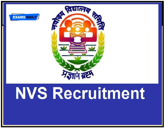 NVS Recruitment 2020 OUT – Walk- In Interview Download Notification, Vacancy, Application Form,
