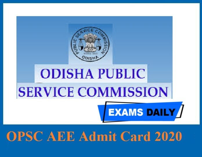 OPSC AEE Admit Card 2020