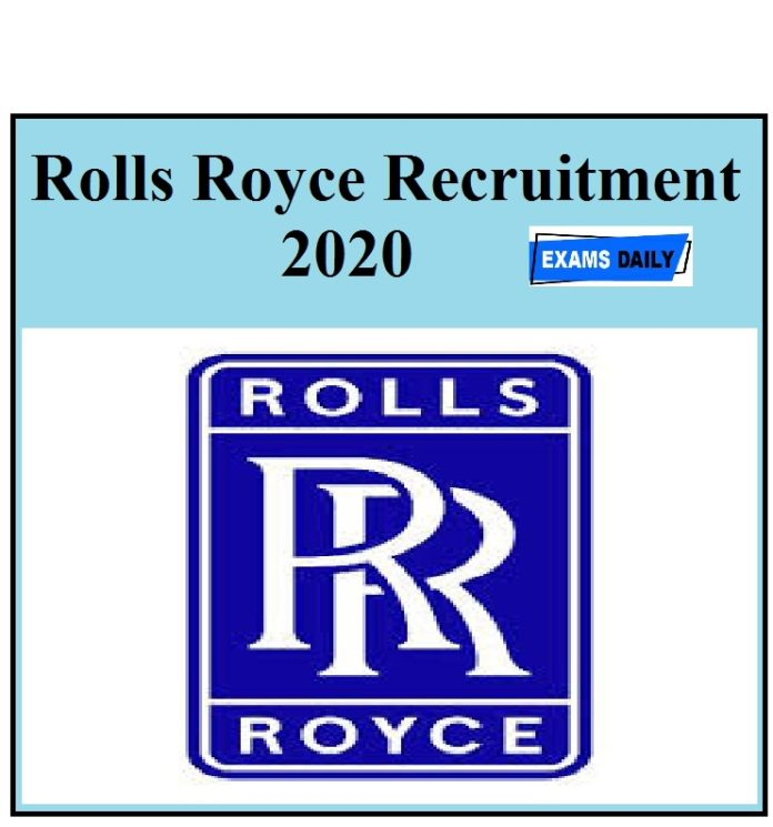 Rolls Royce Recruitment 2020 Out - Apply for Senior Controls Engineer Vacancies!!!