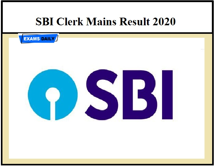 SBI Clerk Mains Result 2020 – Know How to download @ sbi.co.in