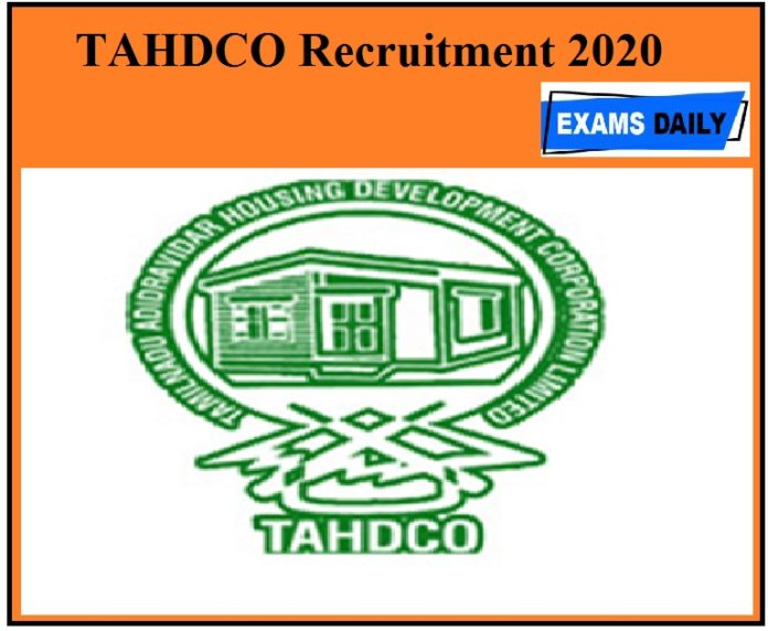 TAHDCO Recruitment 2020 Out Apply For Assistant Engineer Vacancies!!!